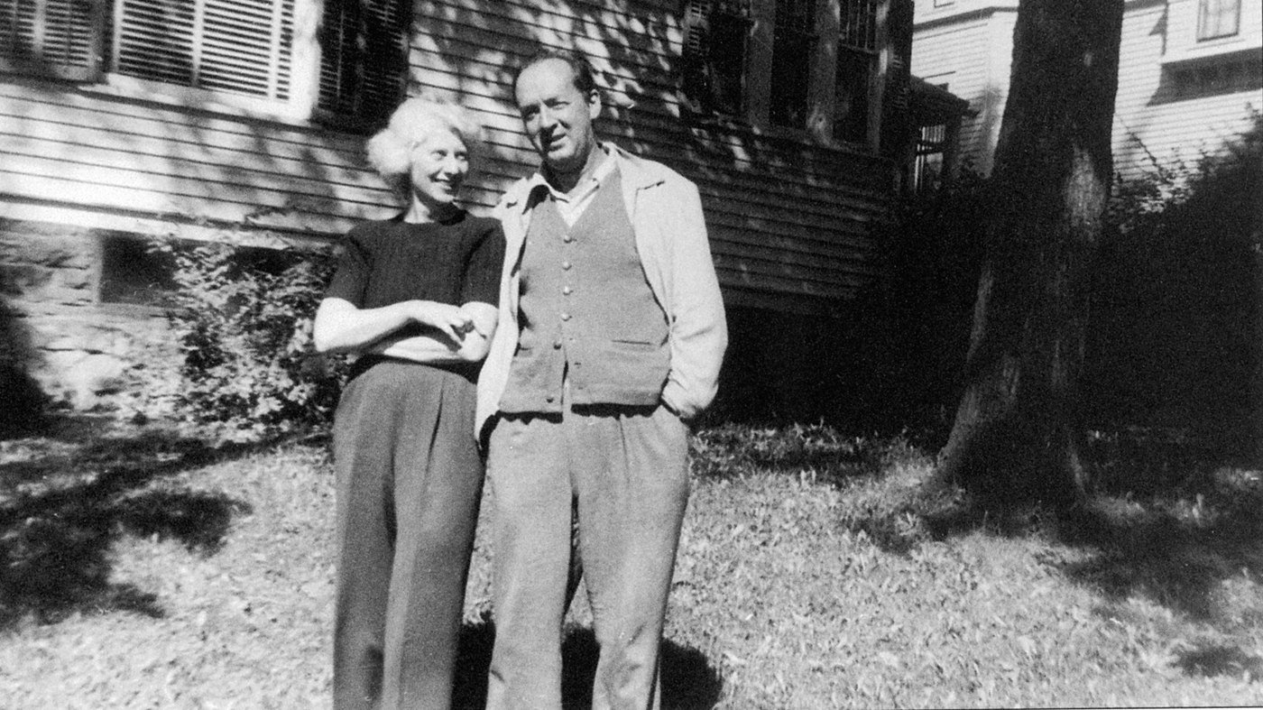 Vladimir and Vera Nabokov outside their rented home in Ithaca, N.Y., in 1951. There, Nabokov completed his autobiography and began Lolita.